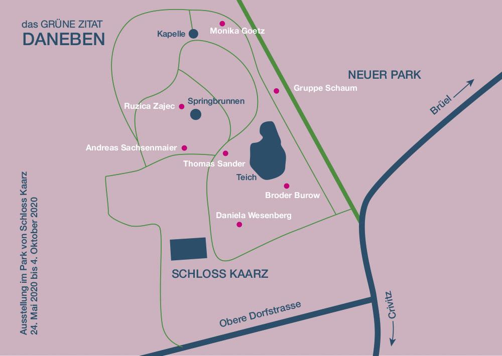 Ausstellung im Schlosspark Kaarz